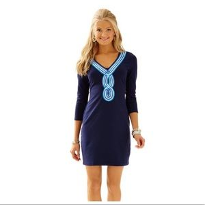 Lilly Pulitzer Navy Blue Clarkson Dress